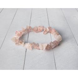 Bransoletka z kwarcu różowego